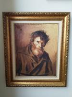 """""""Mednyánszky"""" szignóval ellátott portré"""