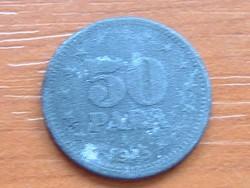 JUGOSZLÁVIA 50 PARA 1945 CINK #