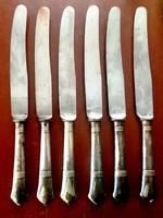 6 db, ezüstözött nyelű kés készlet (SZANDRIK AE)