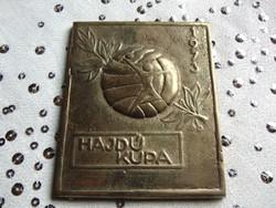 Hajdú Kupa / 1973. Tömör réz emlékplakett
