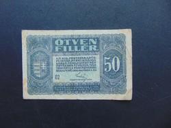 50 fillér 1920  02 sorszám