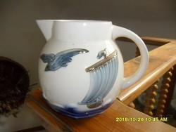 Sarreguemines fajansz dísz korsó tenger jelenettel