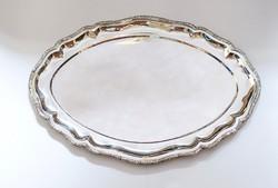 Mutatós ezüst tál,  394,5 gramm