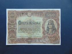 5000 korona 1920 5 B 03 nagy méretű bankjegy !