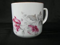 Zsolnay porcelán virágos bögre
