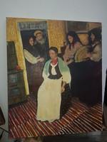 Gyöpös Viktória: Készülődés, olaj, vászon, 48x58