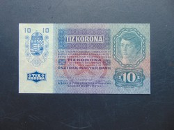10 korona 1915  1266 Szép ropogós bankjegy !