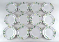 0Y647 Herendi 12 személyes majolika tányérkészlet