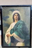 Antik Szent kép Szűz Mária 1891 Horváth Henrik ( 1840-         )