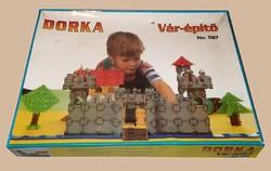 Régi retro Dorka márkájú Vár-építő játék építőjáték