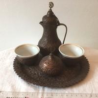 Török réz kávéskészlet - 2 személyes