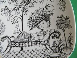 Rosenthal Wiinblad Siesta porcelán tál, tálka