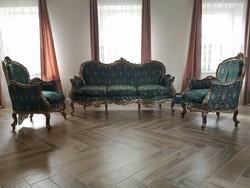 Barokk stil kanapé, fotel.