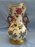 FISCHER : szecessziós váza extrém ritka domborított mintákkal 18,5 cm  cca1880