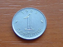 FRANCIA 1 CENTIME 1963 #