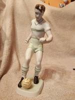 Hollóházi retró Fradis focista.