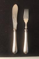 Szecessziós szervírozó kés és villa Christofle jelzéssel