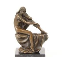 Szecessziós -art nouveau nő alak bronzszobor
