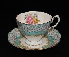 """Royal Albert """"Enchantment"""" gyönyörűséges türkizkék TEÁS csésze aljjal"""