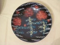 Retro Bodrogkeresztúri kerámia falitányér 23 cm