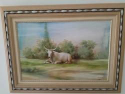 """""""Szőnyi I."""" szignóval ellátott festmény"""