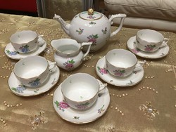 Antik Herendi gyönyörű Eton mintás teás készlet gyűjteményből eladó jelzett 5 személyes