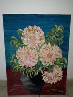 VÖRÖS GÉZA: Dáliák vázában