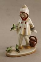 Német porcelán kislány madarakkal G83