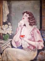 ILLENCZ LIPÓT (1882-1950): ESTI TOILETTE