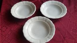 Antik Zsolnay fehér mély tányér 3 db eladó!