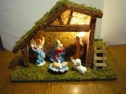 Betlehem jászol karácsony kis jézus betlehemi házikó istálló