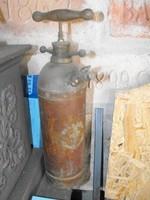 Eredeti Gőzhajó és vagon Réz poroltó vízzel oltó készülék Loft  ipari industrial