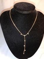 Vastagon aranyozott vintage Aurora Borelis kristállyal díszített nyaklánc