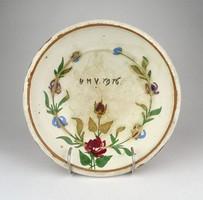 0Y699 Antik vásárhelyi kerámia falitányér 1916