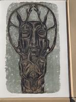 Gaál József  12 db nagyméretű litográfia egy mappában