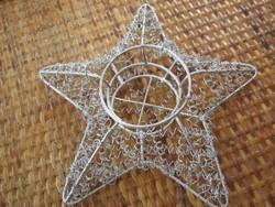 Csillag alakú fém mécsestartó