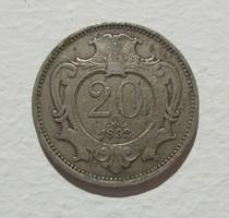 20 Heller 1892 Ritka!