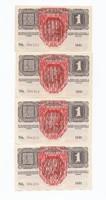 1 korona 1916, 4db sorszámkövető (Deutschösterreich)