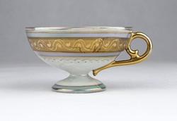 0Y713 Régi jelenetes Altwien porcelán kávéscsésze