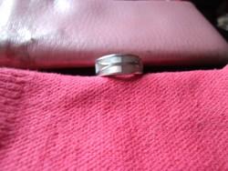 Vastag női ezüst gyűrű gyöngyházzal 10g