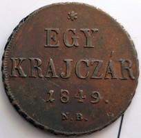 ★1849 Szabadságharc 1 Krajcár Nagybánya★