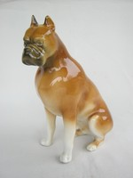 Royal Dux porcelán boxer kutya