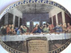 Az utolsó vacsora c. porcelán falitányér