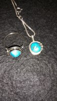 Silver set 925 with original turquoise stone