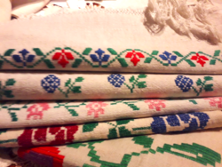 Embroidered linen towel, tablecloth