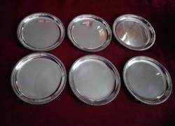 6 db ezüstözött poháralátét GD Alpaka gyártású