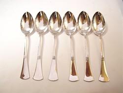 6 darabos ezüst teáskanál szett.Alexander Sturm.