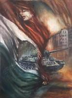 Tar Violetta (Vio) A szellem forradalma című festménye