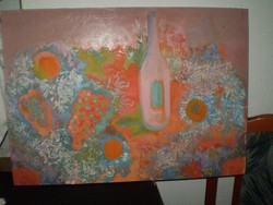 Zoltán Mária Flóra: Csendélet  c. Képcsarnokos festménye.70x50cm 17,