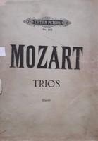 Mozart, Trios, hegedű-zongora-csello kotta
